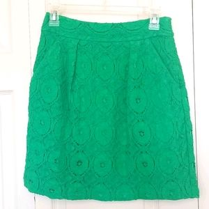 Beth Bowley Kelly Green Lace Skirt Size 0